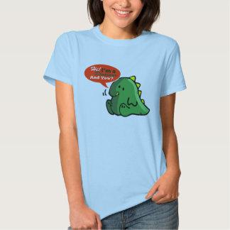 """""""Hola, soy un dinosaurio. Y usted?"""" Camiseta Remera"""