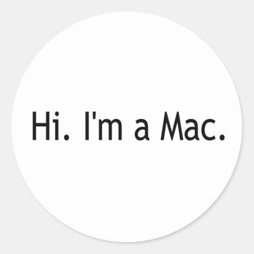 Hola soy un mac etiquetas