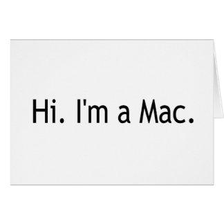 Hola soy un mac tarjeta de felicitación