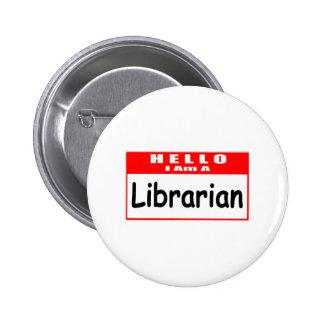 Hola, soy un Nametag del bibliotecario… Pins