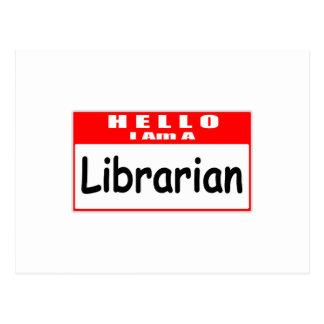 Hola, soy un Nametag del bibliotecario… Postales