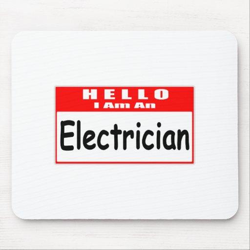 Hola, soy un Nametag del electricista… Tapete De Raton