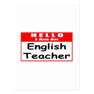Hola, soy un Nametag del profesor de inglés… Tarjeta Postal