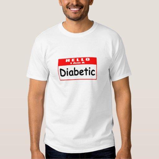 Hola, soy… un Nametag diabético Playeras