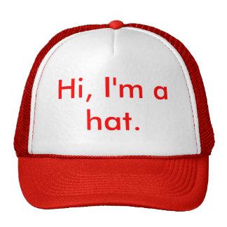 Hola, soy un sombrero gorro de camionero