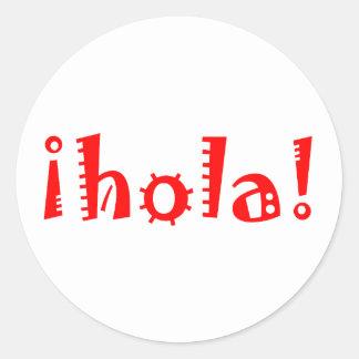 Hola Round Sticker