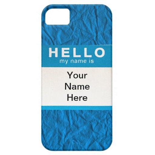 Hola… Sus del nombre cubiertas del iPhone 5/5S iPhone 5 Fundas