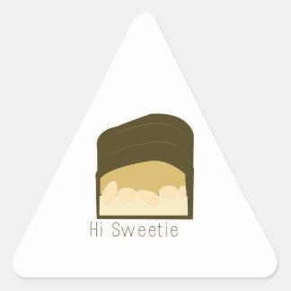 Hola Sweetie Pegatina Triangular