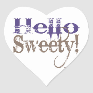 ¡Hola Sweety Calcomanía Corazón