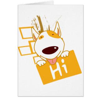 hola tarjeta de felicitación