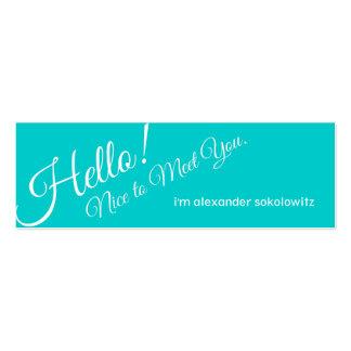 ¡Hola! Tarjeta de visita del perfil de la turquesa