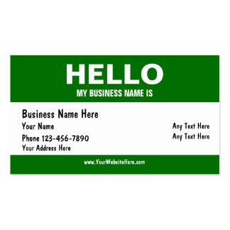 Hola tarjetas de visita