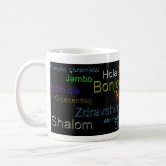 Hola - taza de café, bebida, lengua