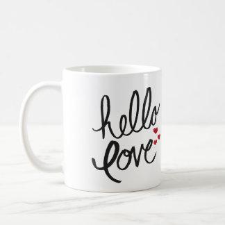 """""""Hola taza de café pintada a mano del amor"""""""