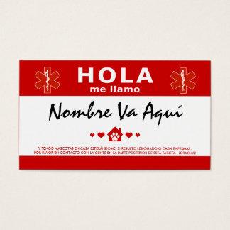 HOLA TENGO MASCOTAS EN CASA BUSINESS CARD