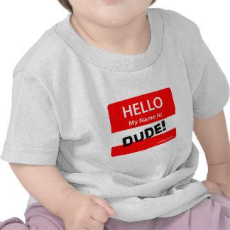 HOLA TIPO 1r Camisetas