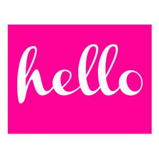 HOLA - tipografía - Postales