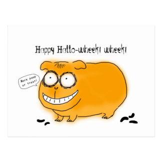 Hola-wheek wheek feliz postales