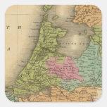 Holanda 3 pegatina cuadrada