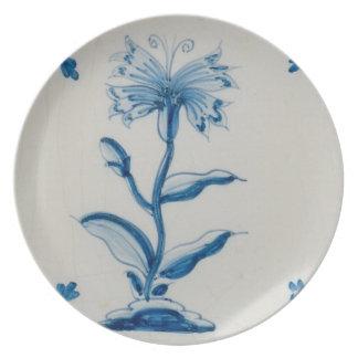 Holanda azul y blanca floral platos de comidas