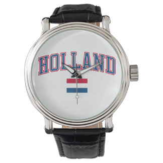 Holanda + Bandera Relojes De Pulsera
