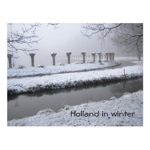 Holanda en invierno tarjetas postales