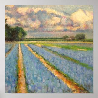 Holanda florece el tríptico 3 del paisaje del moli póster