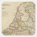 Holanda o las siete provincias unidas calcomanía cuadradase