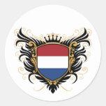 Holanda [personalice] etiqueta redonda