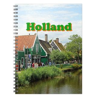 Holanda: Pueblo holandés del molino de viento Notebook