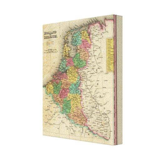 Holanda y Bélgica Impresión En Lienzo