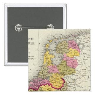 Holanda y Bélgica Pin Cuadrada 5 Cm
