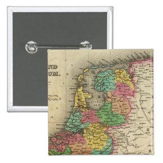 Holanda y Bélgica Pin Cuadrado