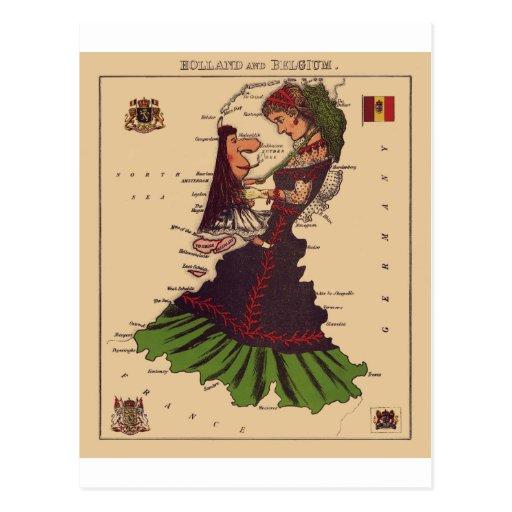 Holanda y Bélgica Tarjeta Postal