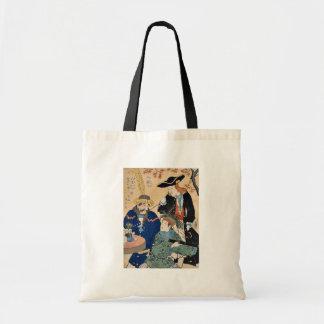 Holandés, americano, inglés por Utagawa, Hiroshige Bolsas Lienzo