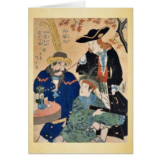Holandés, americano, inglés por Utagawa, Hiroshige Tarjeta De Felicitación