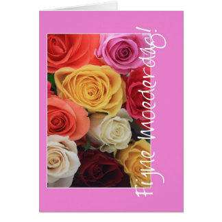 holandés de la tarjeta de felicitación de los rosa