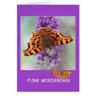 Holandés del día de madre de las mariposas de coma tarjeta de felicitación