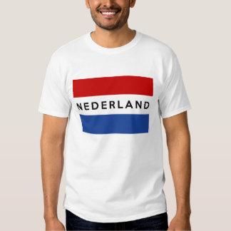 holandés holandés del nombre del texto del playera