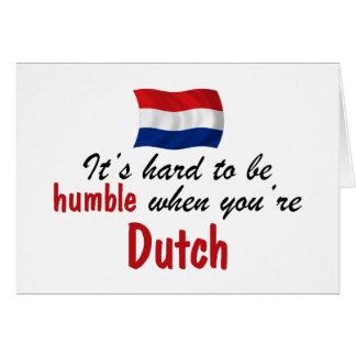 Holandés humilde tarjeta de felicitación