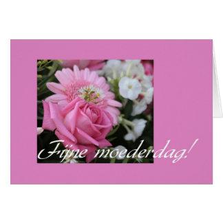 holandés subió rosa de la tarjeta del día de madre