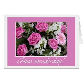 Holandés subió rosa del ramo de la tarjeta del día