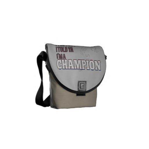 Holandés y un campeón bolsas de mensajeria
