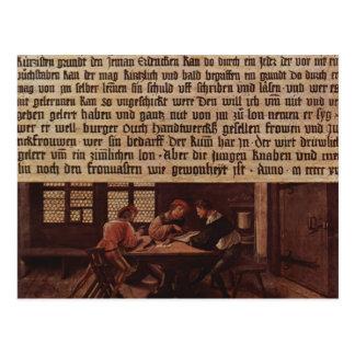 Holbein-Explicación de Hans del significado de una Postales