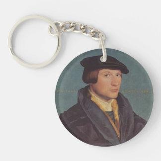 Holbein-Retrato de Hans de un miembro de la famili Llavero Redondo Acrílico A Una Cara