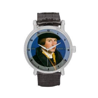Holbein-Retrato de Hans de un miembro de la famili Relojes De Mano