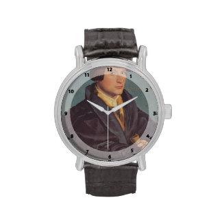 Holbein-Retrato de Hans de un miembro de la famili Reloj