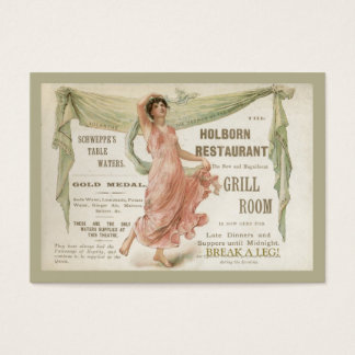 Holborn Restaurant Business Card