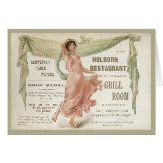Holborn Restaurant Card