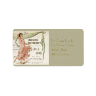 Holborn Restaurant Personalized Address Label
